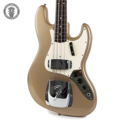 1965 Fender Jazz Bass Firemist Gold Custom Color Super Rare for sale