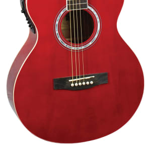 Indiana MAD-RD Madison Concert Cutaway 6-String Acoustic-Electric Guitar - Red for sale