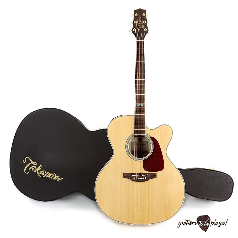 Takamine GJ72CE-NAT Jumbo Cutaway Acoustic/Electric Guitar w/ Case - Natural image