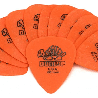 Dunlop 418P060 Tortex Standard Guitar Picks .60mm Orange 12-pack