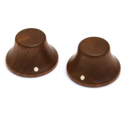 PK-3197-0W0 (2) Walnut Wood Bell Knobs for Bass Or Guitar
