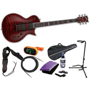 ESP LTD Deluxe EC-1000QM STBC See Thru Black Cherry *NEW* FREE MEGA BUNDLE 2 for sale