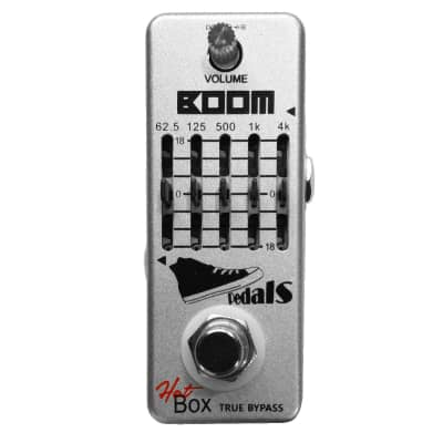 Hot Box Pedals HB-T53 Boom 5-band Bass Graphic Equalizer Attitude Series Pedal True Bypass