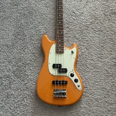 Fender FSR Player Mustang Bass 2017 Special Edition MIM Capri Orange Rare Guitar