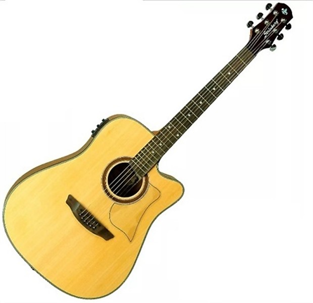acoustic electric guitar w built in preamp tuner reverb. Black Bedroom Furniture Sets. Home Design Ideas
