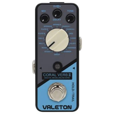 Valeton Coral Verb II Digital Modeling Reverb Mini Guitar Effects Pedal
