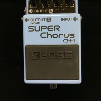Boss Super Chorus CH-1 (Blue label on bottom)