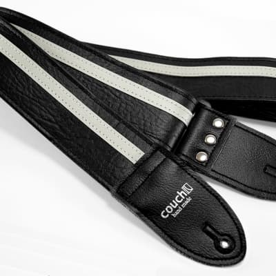 Black White Racer X Guitar Strap
