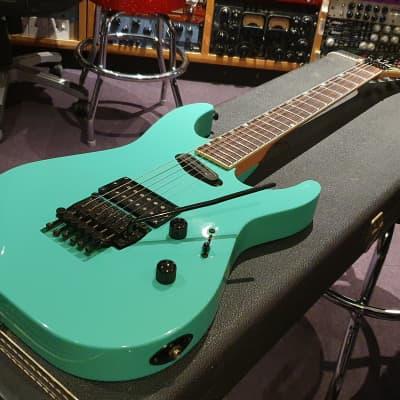 ESP The Mirage Deluxe Seafoam Green Sinclair Tremolo! RARE Super Strat MIJ Japan Guitar MII M-I II