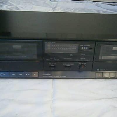 Vintage Sony Stereo Home Dual Cassette Deck Tc-w390 Double Tape Player Auto REVRS