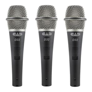 CAD D32X3 Supercardioid Vocal Microphones (3-Pack)