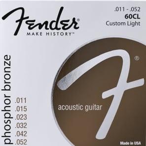 Fender 60CL Phosphor Bronze Acoustic Guitar Strings - Custom Light for sale