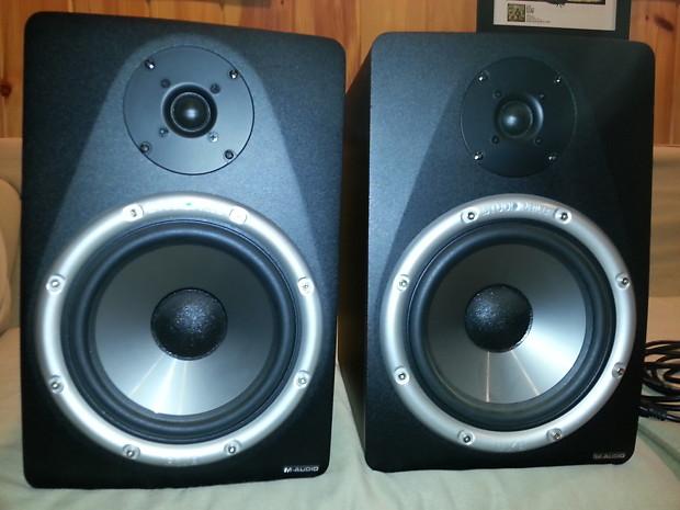M-Audio BX8 Studiophile Studio Monitors Pair (Great Condition) on
