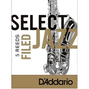Rico RSF05TSX3H Select Jazz Tenor Saxophone Reeds, Filed - Strength 3 Hard 5-pack