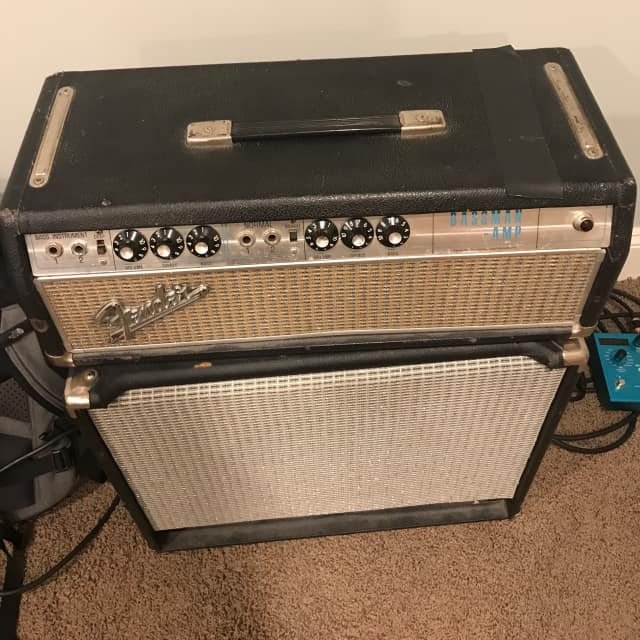 Fender Bassman 1968 Silverface Drip Edge - Recapped and retubed with Trainwreck mod on bass channel image