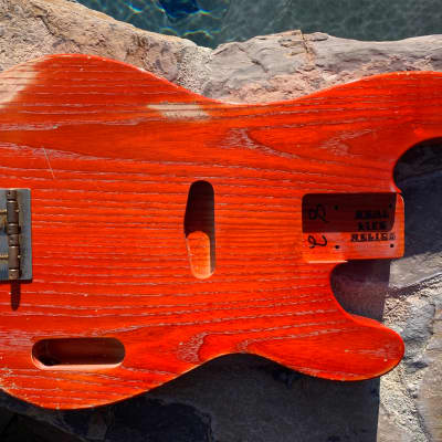 Real Life Relics 51 P Bass  Body Aged Gretsch Orange Swamp Ash Nitro Lacquer Finish Made in USA