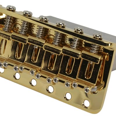 Gold GOTOH 510TS-SF2 High End Traditional 6-point Tremolo Bridge Steel Block