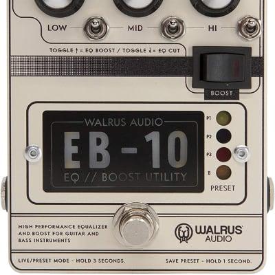 Walrus Audio EB-10 Preamp/EQ/Boost, Cream, (900-1049C)
