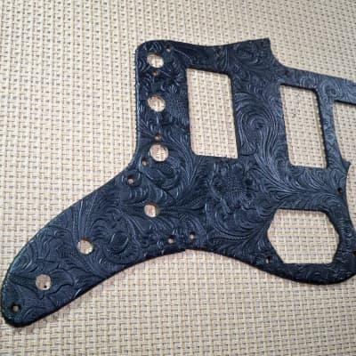 country western tolex pickguard & control plate for us/mex fender standard jaguar guitar
