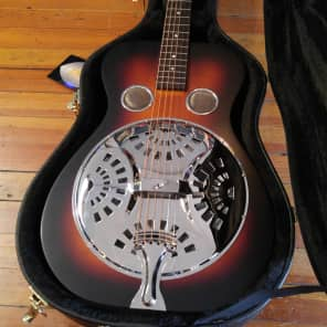 Recording King RR-55 Performer Roundneck Resonator Satin Brown Sunburst