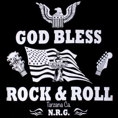 SALE!!! OLD DESIGN: God Bless Rock & Roll T-Shirt  Small