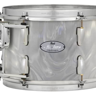 "Pearl Music City Custom 14""x12"" Masters Maple Reserve Series Tom Drum  w/optimount MRV1412F - White Satin Moire"
