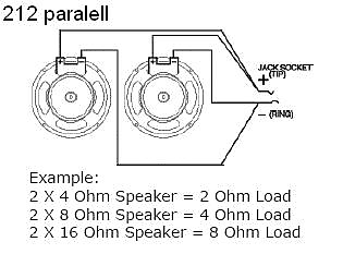 EarCandy 2x12 guitar speaker cab parallel wiring harness W | Reverb | Guitar Cabinet Wiring Diagrams |  | Reverb