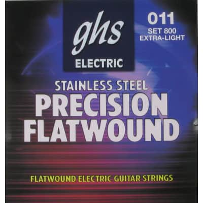 GHS 800 Precision Flats Flatwound Extra Light Electric Guitar Strings (11-46)