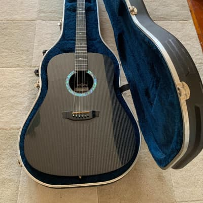 RainSong DR1000 Dreadnought Acoustic Guitar with Hard Case Black for sale