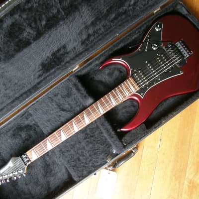 Ibanez Ex Series Metallic Red Wine VG++ condition plays and sounds amazing,  HSH w Floyd w case for sale