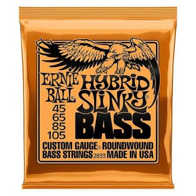 Ernie Ball 2833 Hybrid Slinky Nickel Wound Electric Bass Strings - .045-.105