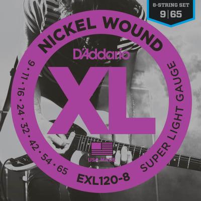 D'Addario EXL120-8 Nickel Wound 8-String Super Light 9-65