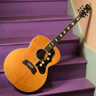 1970s Global (Japan-made) J200 Clone Jumbo Guitar (Fresh Neck Reset, Vintage) for sale