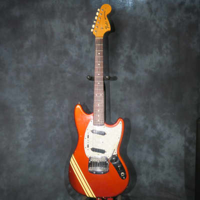 Fender Competition Mustang Candy Apple Red 1972 Vintage + Case for sale