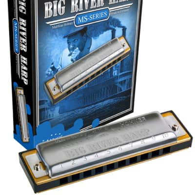 Hohner 590BX-G Big River Harp Key Of  G  Boxed Package Harmonica