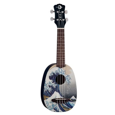 Luna Great Wave Soprano Pineapple Uke for sale