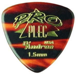 D'andrea Pro-Plec 346 ROUNDED TRIANGLE 1.5mm shell Guitar Picks -12 pack 2015 Natural for sale
