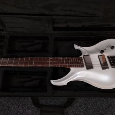 KOLOSS AXIS7 headless Aluminum body 7 string electric guitar white for sale
