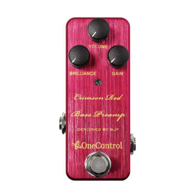 One Control Crimson-Red Bass Preamp for sale