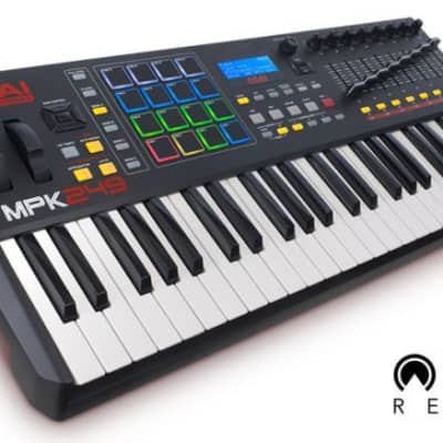 AKAI MPK249USB/iOS MIDI Controller Keyboard with 49-note Semi-weighted Keybed with Aftertouch