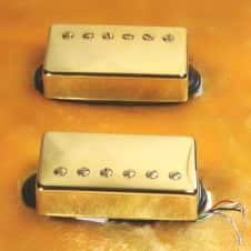Lindy Fralin Pure P.A.F. Custom 5% OVER Pickup Set -GOLD Covers - 4 Cond. Leads