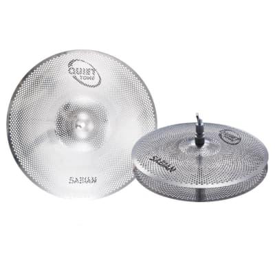 """Sabian QTPC501 13"""" Hi-Hats 18"""" Crash-Ride Quiet Tone Pack"""