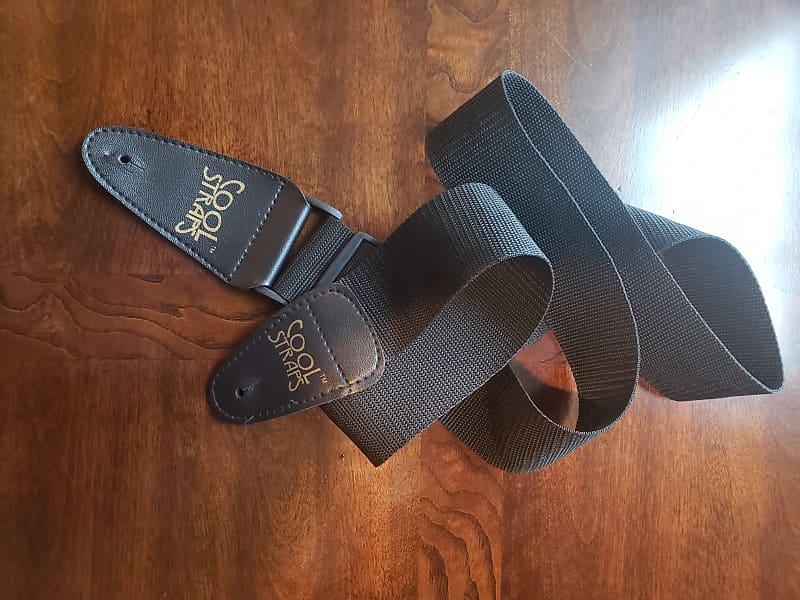 cool straps guitar strap black charlie 39 s guitar shop reverb. Black Bedroom Furniture Sets. Home Design Ideas