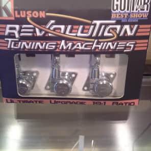 Kluson KFTL-3805CL Revolution 6-in-Line F-Mount Locking Tuners