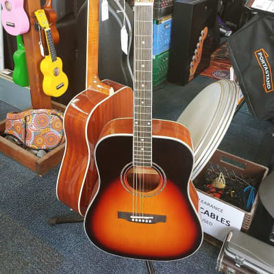 Tanara TSD-100EVS Sunburst Acoustic Electric Guitar for sale