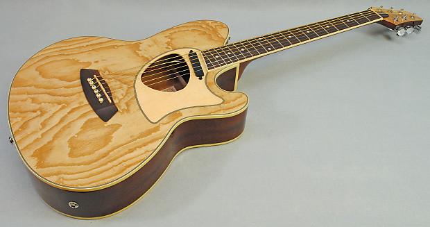 Ibanez Talman Tcm50 Acoustic Electric Guitar Natural Ash Reverb