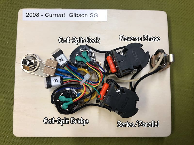 2008 current gibson sg wiring harness jimmy page coil. Black Bedroom Furniture Sets. Home Design Ideas