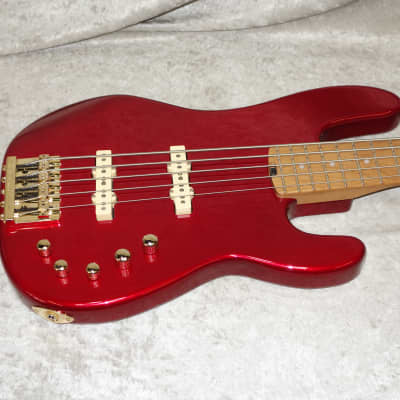In Stock! 2021 Charvel Pro-Mod San Dimas® Bass JJ V five candy apple red for sale