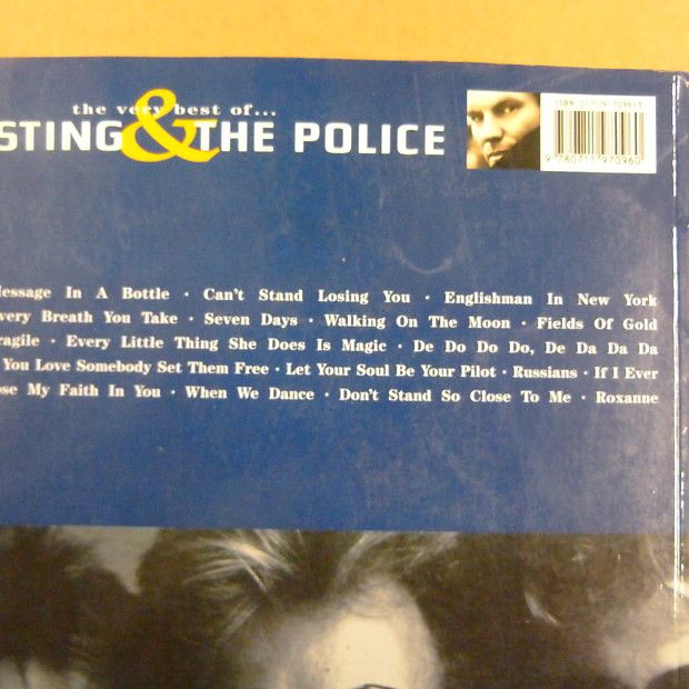 Songbook Sting The Police The Very Best Vocal Piano Guitar Chords