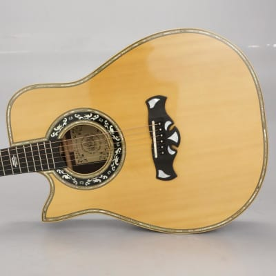 1981 Bozo Bell Western Cutaway Left-Handed Acoustic Guitar Carlos Rios #37400 for sale